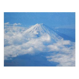 Le mont Fuji de l'avion, carte postale de