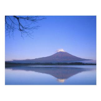 Le mont Fuji du lac Motosu, Yamanashi, Japon Carte Postale