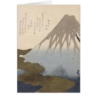 Le mont Fuji sous la neige Carte De Vœux