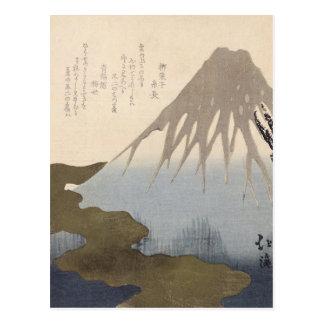 Le mont Fuji sous la neige Carte Postale