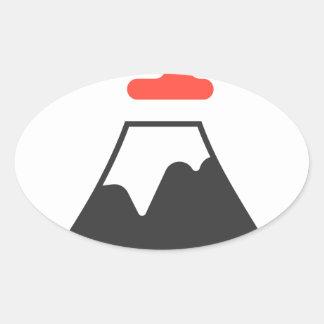Le mont Fuji Sticker Ovale