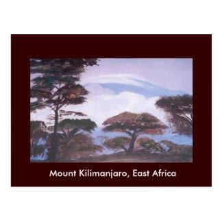 Le mont Kilimandjaro, carte postale de la Tanzanie