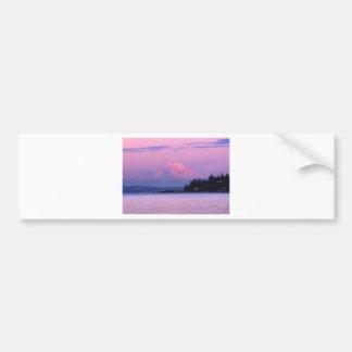 Le mont Rainier au coucher du soleil, l'état de Autocollant Pour Voiture