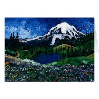 Le mont Rainier Carte De Vœux