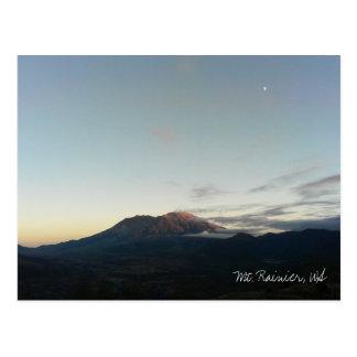 Le mont Rainier, carte postale de WA