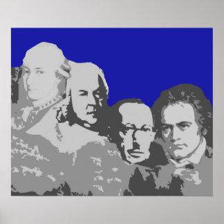 Le mont Rushmore de l'affiche de compositeurs Posters