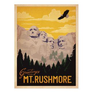 Le mont Rushmore, le Dakota du Sud Carte Postale