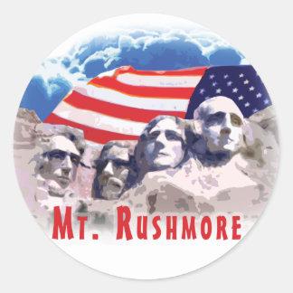 Le mont Rushmore Sticker Rond