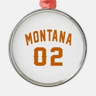 Le Montana 02 conceptions d'anniversaire Ornement Rond Argenté