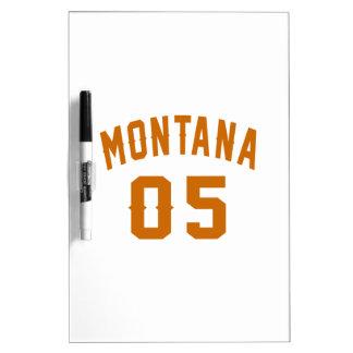 Le Montana 05 conceptions d'anniversaire Tableaux Effaçables Blancs