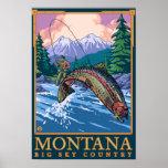 Le Montana -- Grande scène de pêche de CountryFly  Poster