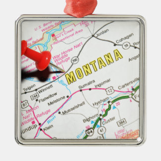 Le Montana Ornement Carré Argenté