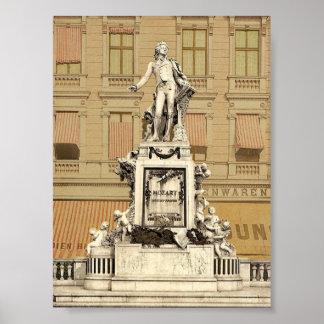 Le monument de Mozart, Vienne, Austro-Hongrie magn Affiches