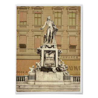 Le monument de Mozart, Vienne, Austro-Hongrie magn Affiche