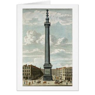 Le monument, gravé par William Henry Toms (c.17 Cartes