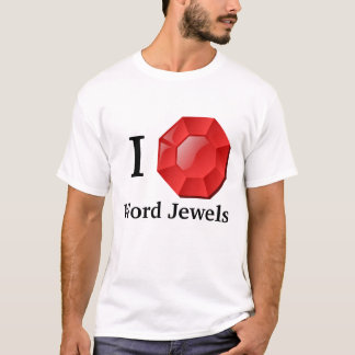 Le mot Jewels le T-shirt
