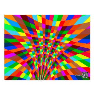 Le motif abstrait coloré moderne colore le rouge carte postale