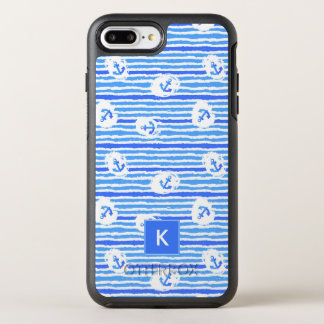 Le motif | d'ancre d'aquarelle ajoutent votre coque OtterBox symmetry iPhone 8 plus/7 plus