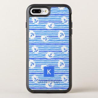 Le motif | d'ancre d'aquarelle ajoutent votre coque otterbox symmetry pour iPhone 7 plus