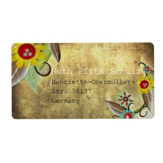 Le motif de fleurs vintage personnalisent étiquette d'expédition