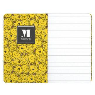 Le motif | de sourires de jaune d'amusement carnet de poche