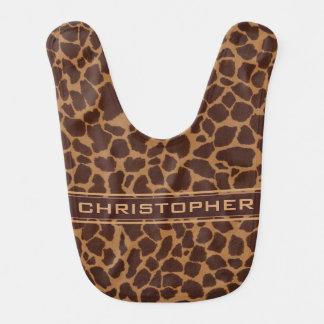 Le motif d'impression de peau de girafe bavoir