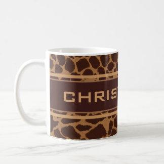 Le motif d'impression de peau de girafe mug