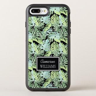 Le motif floral | de jungle ajoutent votre nom coque otterbox symmetry pour iPhone 7 plus