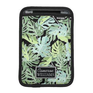 Le motif floral | de jungle ajoutent votre nom housses pour iPad mini