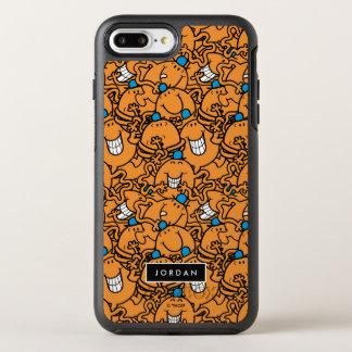 Le motif orange   de chatouillement de M. Tickle   Coque Otterbox Symmetry Pour iPhone 7 Plus