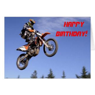 Le motocross dupe la carte d'anniversaire
