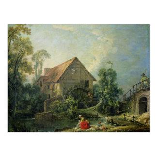 Le moulin, 1751 carte postale