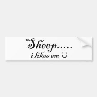 Le mouton ..... I aime la fin de support Autocollant De Voiture