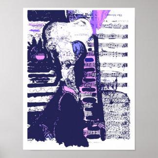 Le Mozart bleu par Rolli (copie originale) Posters