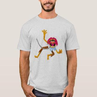 Le Muppet de Muppets dans le collier et les T-shirt
