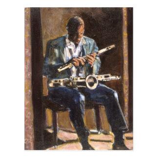 Le musicien carte postale