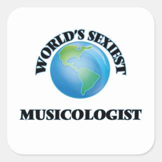 Le musicologue le plus sexy du monde autocollant carré