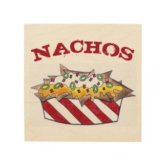 Le Nacho ébrèche le fin gourmet de nourriture Impression Sur Bois