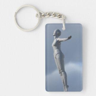Le nageur, porte - clé porte-clefs