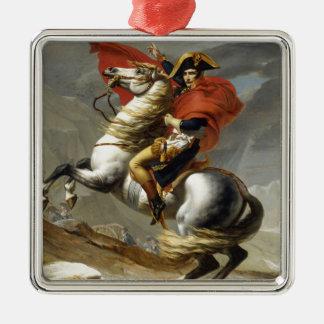 Le napoléon a croisé les Alpes Ornement Carré Argenté