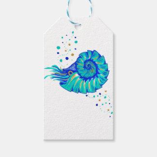 Le Nautilus de Neptune Étiquettes-cadeau