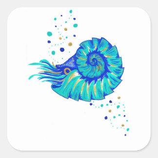 Le Nautilus de Neptune Sticker Carré