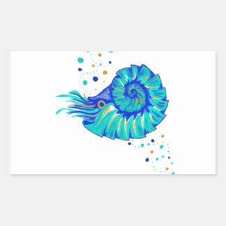Le Nautilus de Neptune Sticker Rectangulaire