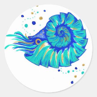 Le Nautilus de Neptune Sticker Rond
