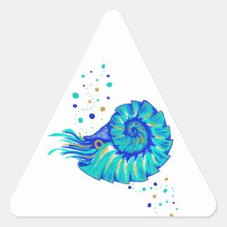 Le Nautilus de Neptune Sticker Triangulaire