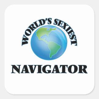 Le navigateur le plus sexy du monde sticker carré
