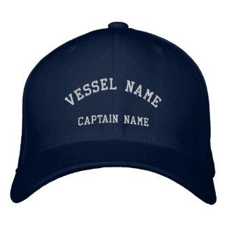 Le navire de capitaines a brodé la marine de casqu casquettes brodées