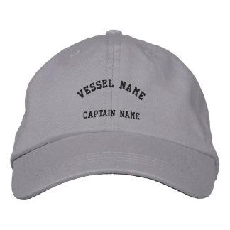 Le navire de capitaines a brodé le gris frais de c casquettes de baseball brodées
