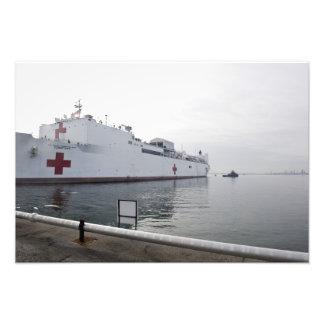 Le navire-hôpital militaire de commande de impressions photographiques