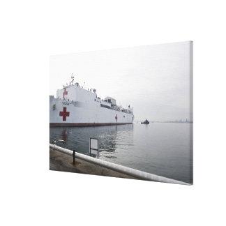 Le navire-hôpital militaire de commande de impressions sur toile